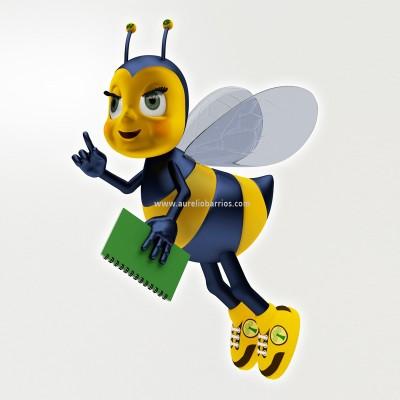 abelha 3d