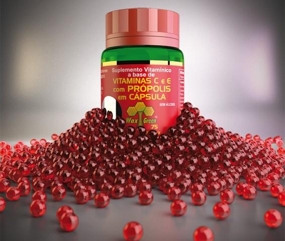 3d Packshot – Propolis capsules