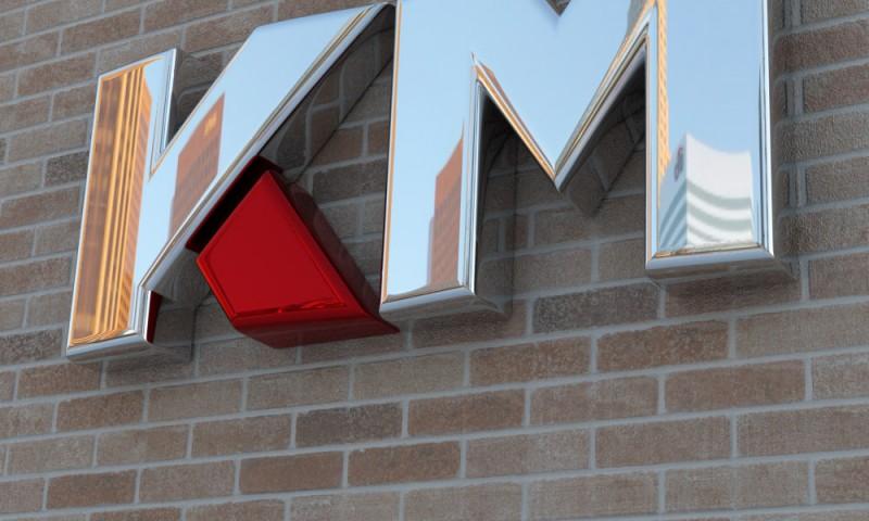 KM – logo cromado